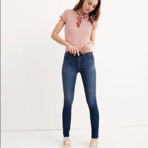 """Madewell 10"""" High Rise Skinny Jeans Dark Wash"""